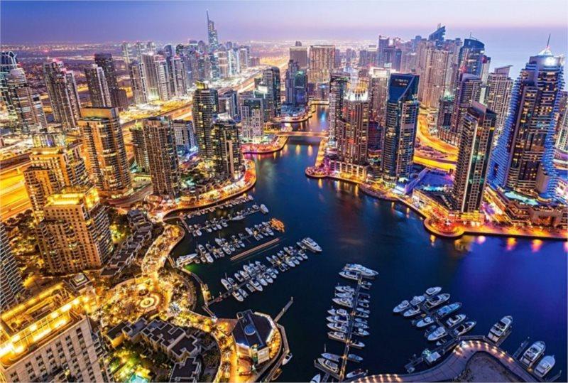 CASTORLAND Puzzle Noční Dubaj 1000 dílků