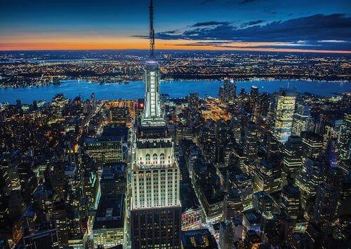 Puzzle PIATNIK 1000 dílků - Noční New York