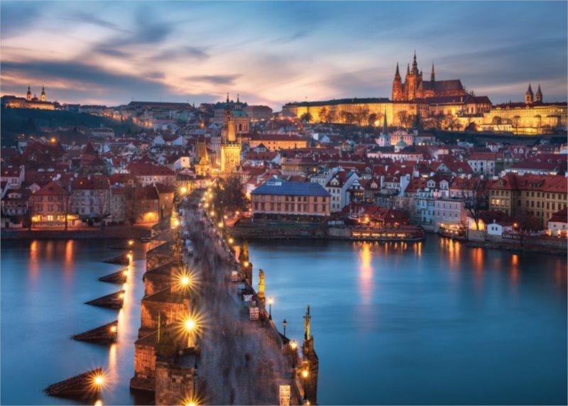RAVENSBURGER Puzzle Noční Praha, Česká republika 1000 dílků