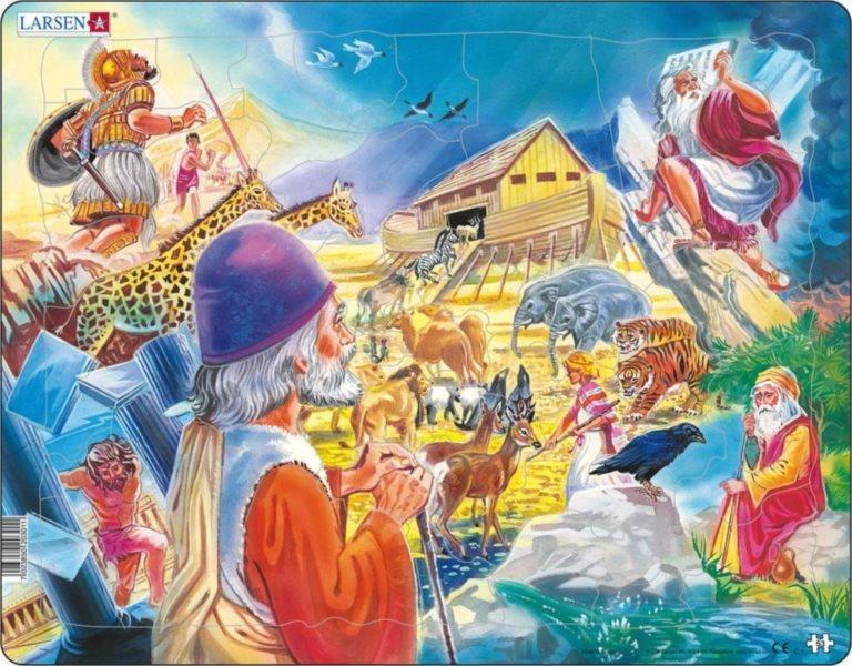 LARSEN Puzzle Noemova archa 53 dílků