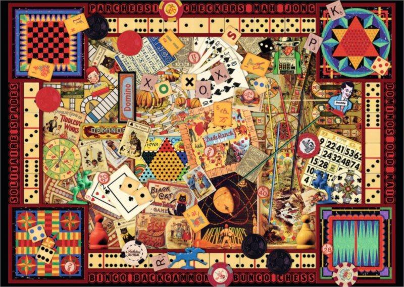 Puzzle RAVENSBURGER 1000 dílků - Nostalgické hry