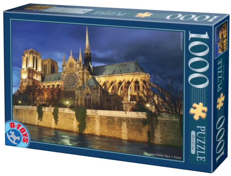 D-TOYS Puzzle Notre Dame, Paříž 1000 dílků