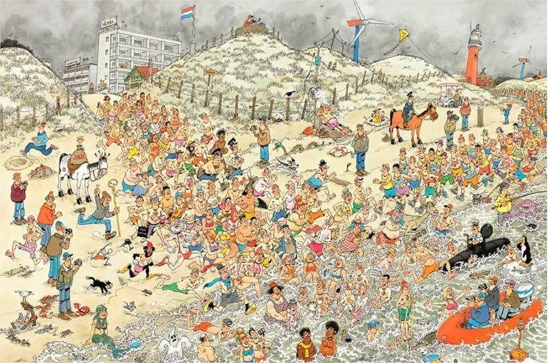 JUMBO puzzle 2000 dílků - Novoroční koupání, Haasteren