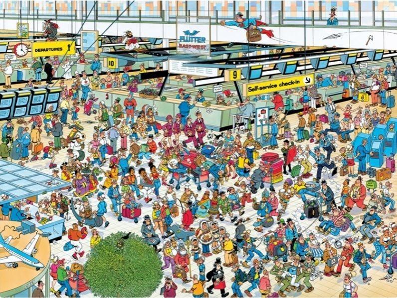 JUMBO Puzzle Odletová hala 2000 dílků