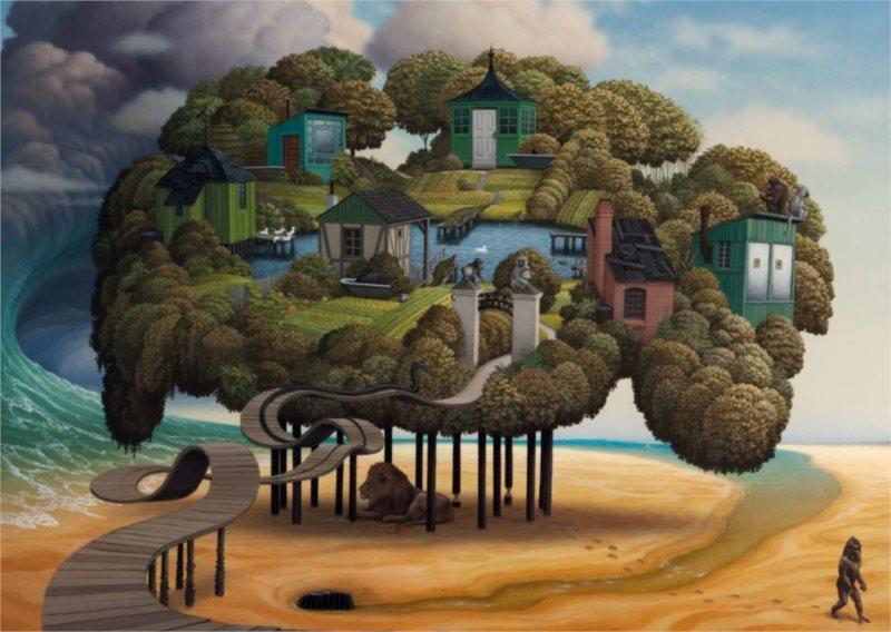 Puzzle SCHMIDT 1000 dílků - J. Yerka: Odliv