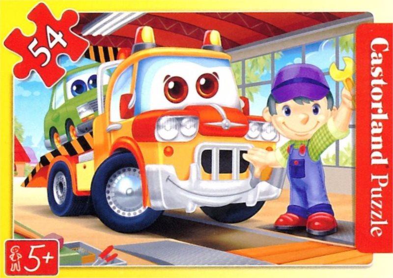 CASTORLAND Dětské puzzle 54 dílků - Odtahové vozidlo