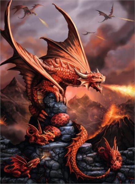 RAVENSBURGER Puzzle Ohnivý drak 500 dílků