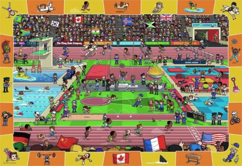 EUROGRAPHICS Puzzle Olympijské hry 100 dílků