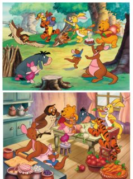 RAVENSBURGER Puzzle Oslava s medvídkem Pú 2x24 dílků