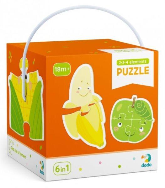 DODO Puzzle Ovoce a zelenina 6v1 (2,3,4 dílky)