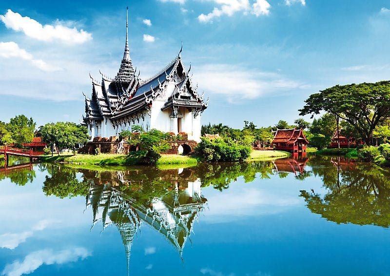 Puzzle TREFL 1000 dílků - Palác Sanphet Prasat, Thajsko