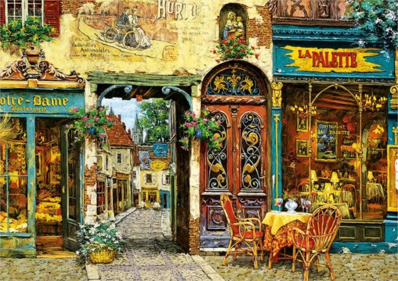 EDUCA Puzzle Restaurace La Palette Notre Dame 1000 dílků