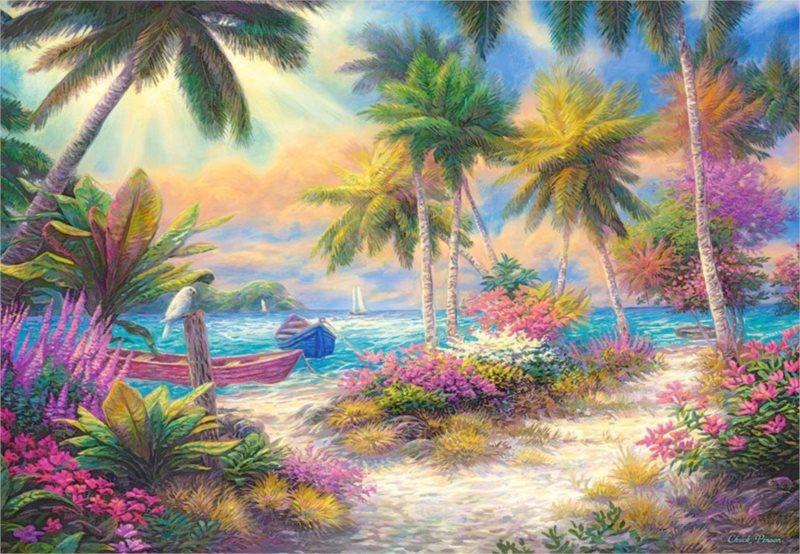CASTORLAND Puzzle Palmový ostrov 1000 dílků