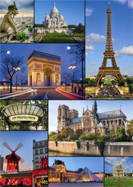 Puzzle DINO 2000 dílků - Paříž