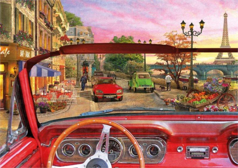 EDUCA Puzzle Paříž v autě 1500 dílků