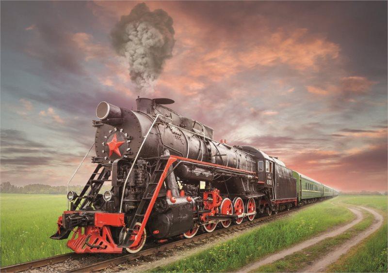 EDUCA Puzzle Parní lokomotiva 2000 dílků