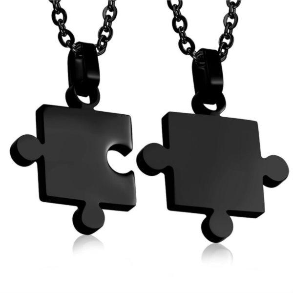 Puzzle partnerské přívěšky - černé