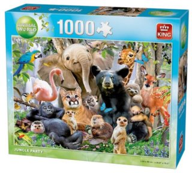 Puzzle KING 05484 H. Robinson: Párty v džungli 1000 dílků