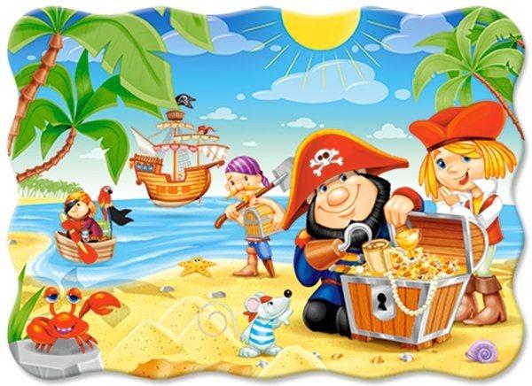 Dětské puzzle 30 dílků - Piráti s pokladem, CASTORLAND