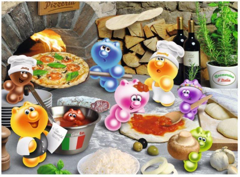 Puzzle RAVENSBURGER 500 dílků - Gelini: Pizza