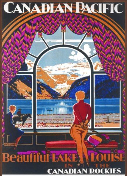 Puzzle EUROGRAPHICS 1000 dílků - Plakát: Jezero Louise