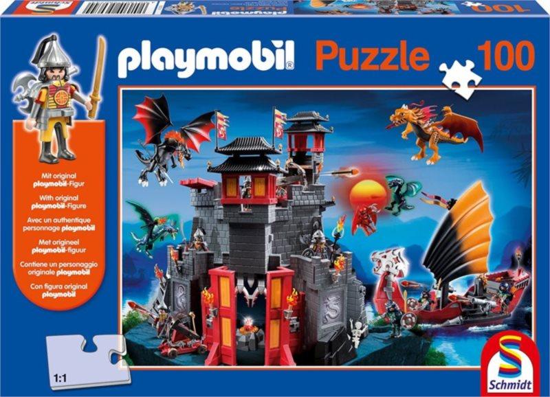 SCHMIDT Puzzle Playmobil Svět asijských draků 100 dílků + figurka Playmobil