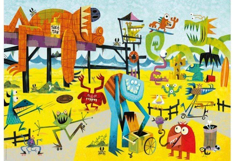 HEYE Puzzle Pláž příšerek 1000 dílků
