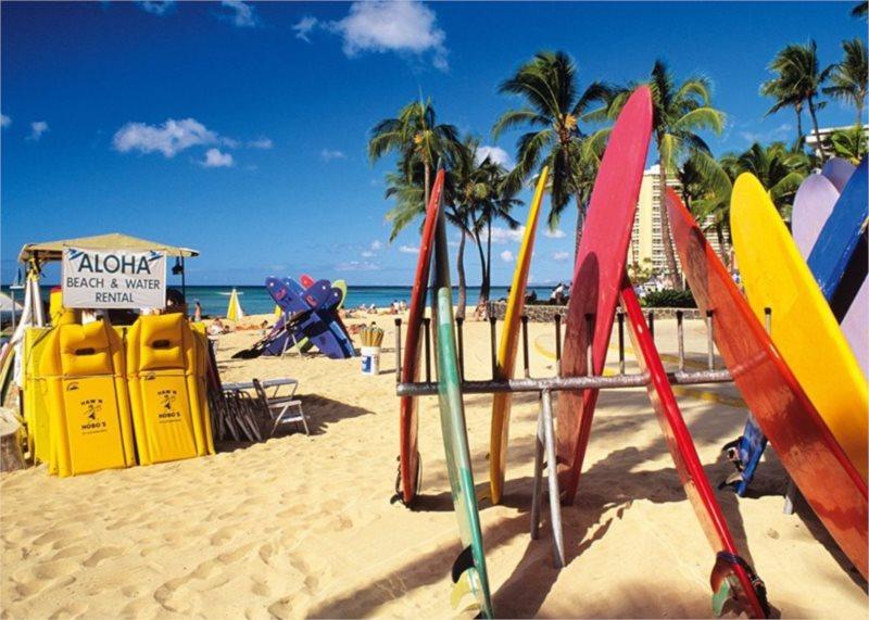JUMBO Puzzle 17003 Pláž Waikiki, Honolulu 1000 dílků