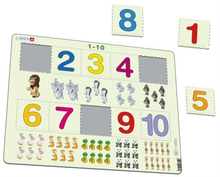 LARSEN Puzzle Počítání do deseti 10 dílků