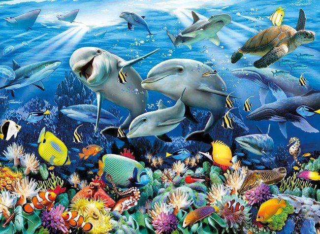 poškozený obal: Puzzle CLEMENTONI 6000 dílků - Pod vodou