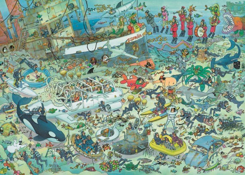 JUMBO Puzzle Podmořská zábava 2000 dílků