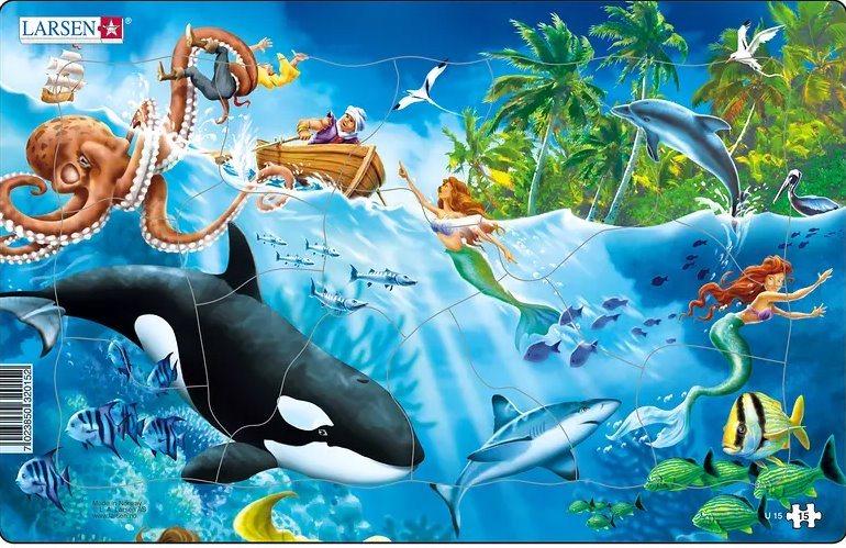 LARSEN Puzzle Podmořský svět 15 dílků