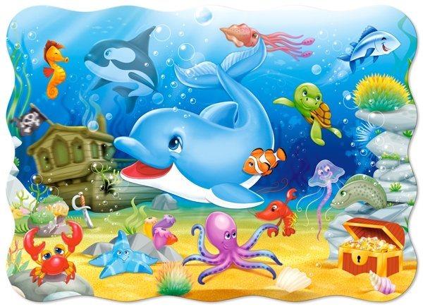 Dětské puzzle 30 dílků - Podmořští přátelé, CASTORLAND