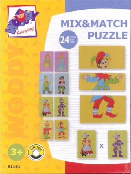 WOODY, Puzzle Pohádkové postavy, 24 dílků