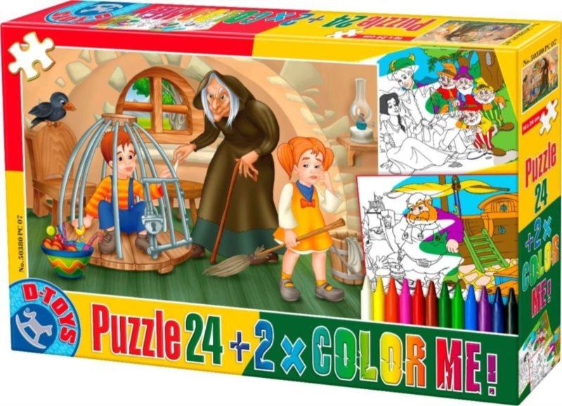Dětské puzzle D-TOYS COLOR 24 dílků - Pohádky 6