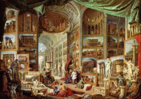 Puzzle EDITIONS RICORDI 1000 dílků - Pannini, Pohled na antický Řím