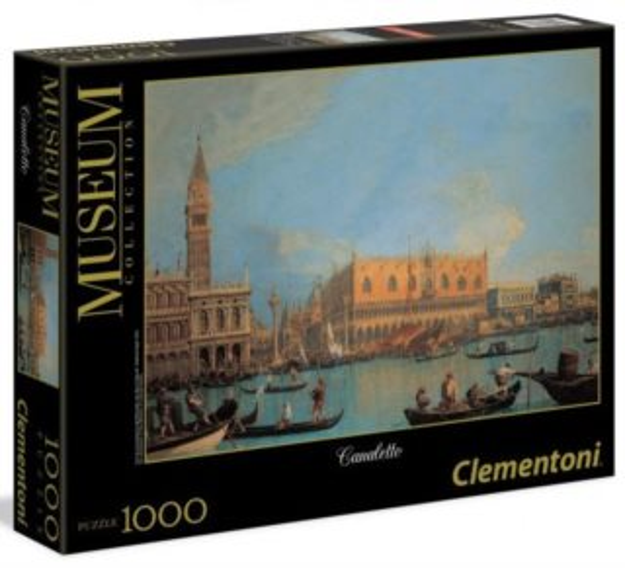 CLEMENTONI Puzzle Pohled na Dóžecí palác, Benátky 1000 dílků