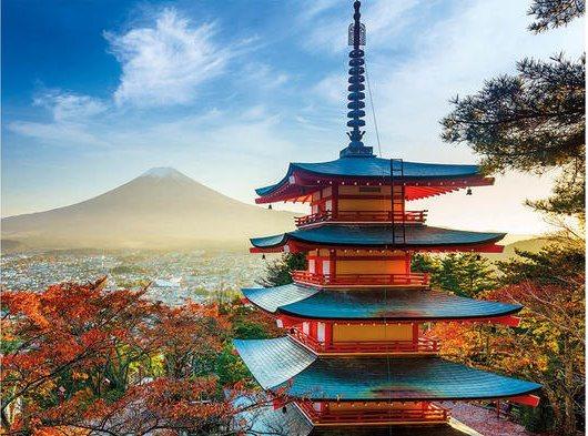 Puzzle DINO 1500 dílků - Pohled na horu Fuji