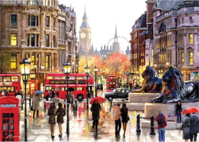 ART PUZZLE Puzzle Pohled na Londýn 2000 dílků