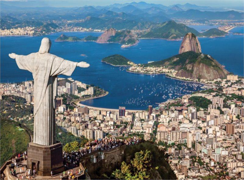 CLEMENTONI Puzzle Pohled na Rio De Janeiro 500 dílků
