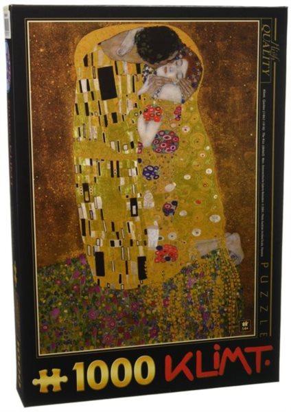 Puzzle D-TOYS 66923 G. Klimt: Polibek 1000 dílků