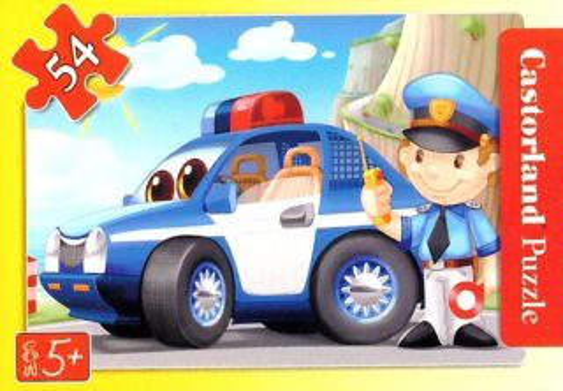 CASTORLAND Dětské puzzle 54 dílků - Policejní auto