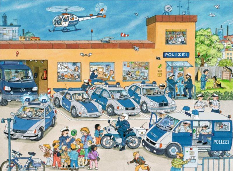 RAVENSBURGER Puzzle Policejní stanice XXL 100 dílků