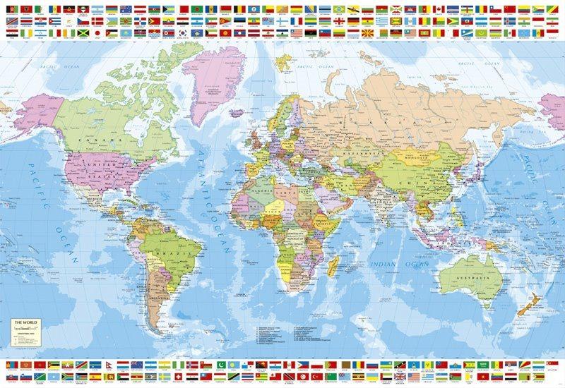EDUCA Puzzle Politická mapa světa 1500 dílků
