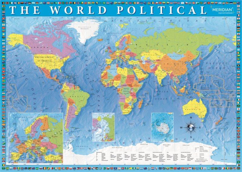 TREFL Puzzle Politická mapa světa 2000 dílků