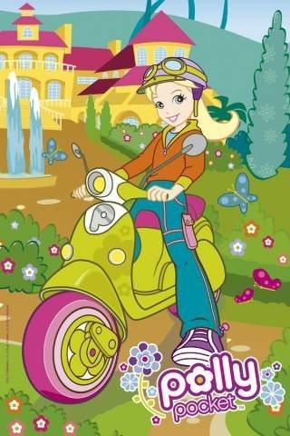 Puzzle pro děti TREFL 60 dílků - Polly Pocket: Na skútru
