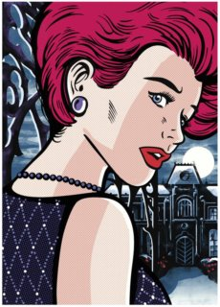 DINO Puzzle Pop Art: Tajemná žena 1000 dílků