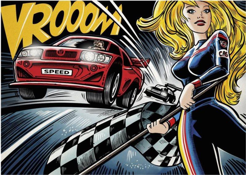 DINO Puzzle Pop Art: Závody 1000 dílků