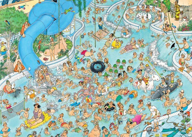 JUMBO Puzzle Bláznivý vodní svět 3000 dílků
