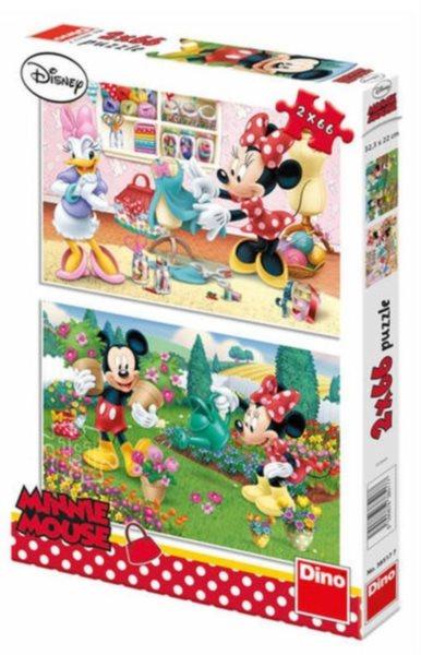 DINO Puzzle Pracovitá Minnie 2x66 dílků